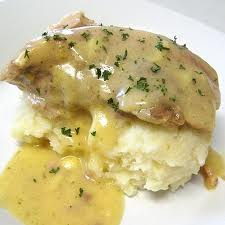 Crock Pot Ranch House Pork Chops with Parmesan Mashed Potatoes